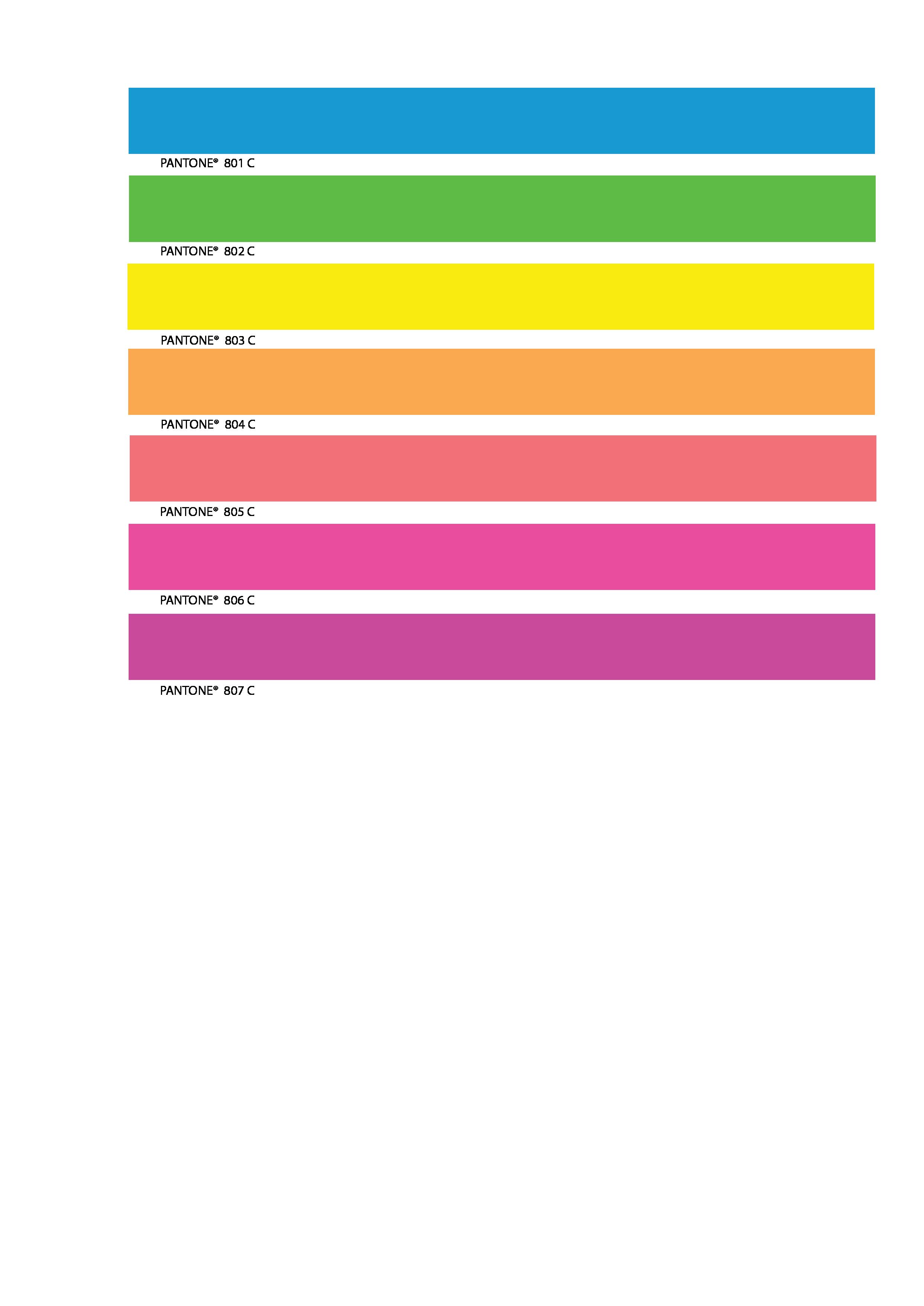 Fluorescent Ink Chart